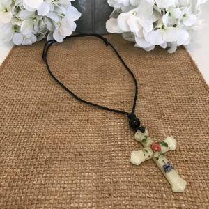 Jewelry - Flower Cross Necklace